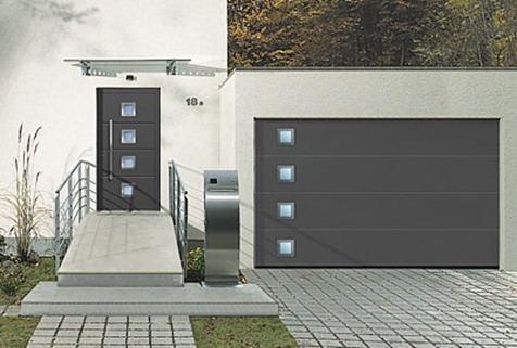 Puerta aluminio entrada vivienda