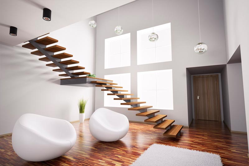 Escalera estilo moderno interior