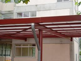 Estructura de hierro para tejado